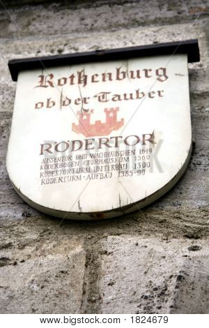 Rothenburg Ob Der Tauber, Medieval Old Town In Germany
