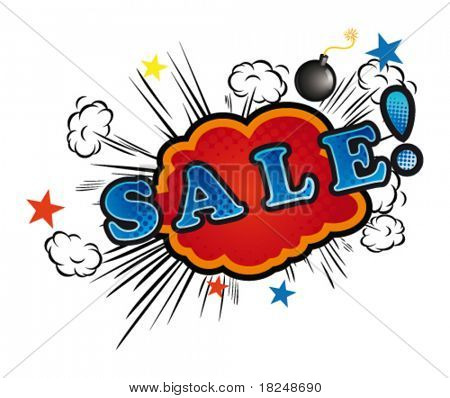Cartoon-SALE. Vector