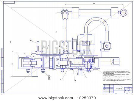 Key hydraulic. Vector illustration