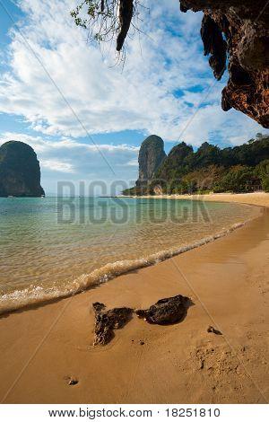 Beach Karst Cliff Phra Nang Railay