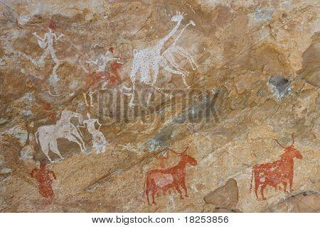 Petroglyphs - Akakus (acacus) Mountains, Sahara, Libya