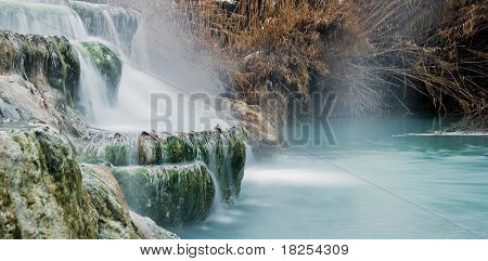 Thermal Water For Bathing.saturnia, Famous In Tuscany