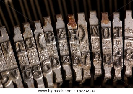 Old text typing typewriter letter typebar. Background
