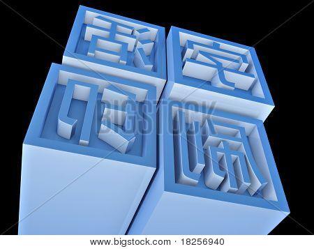 Movable Type impresión en Chino