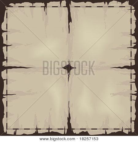Old Damaged Dark Sheet Of Paper