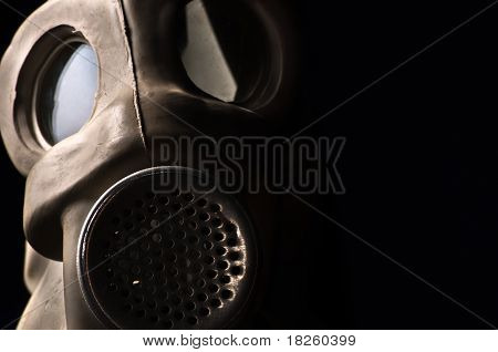 Gasmask In The Dark