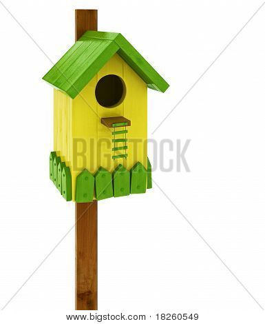 colored birdhouse