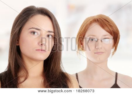 Two young womans