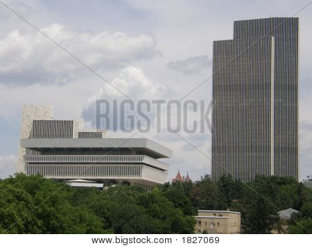 New York State Museum & Corning Tower In Albany