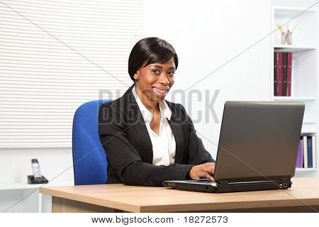 Beautiful Smiling African American Business Woman