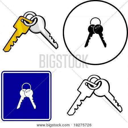 keys illustration sign and symbol