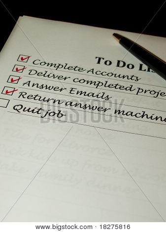 To Do List Quiting A Job