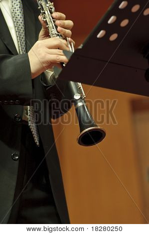 Clarinetist on concert