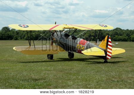 Vintage World War I Army Airforce Biplane