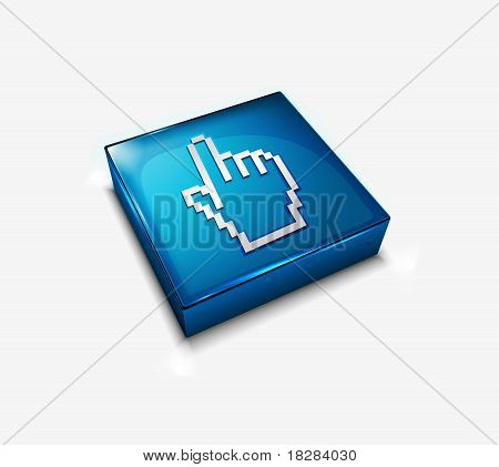 Hand Cursor Web Icon