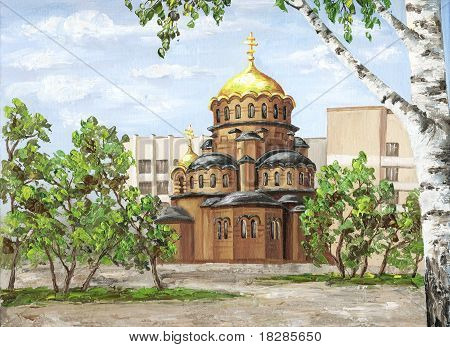 Cathedral of Nevsky, Russia
