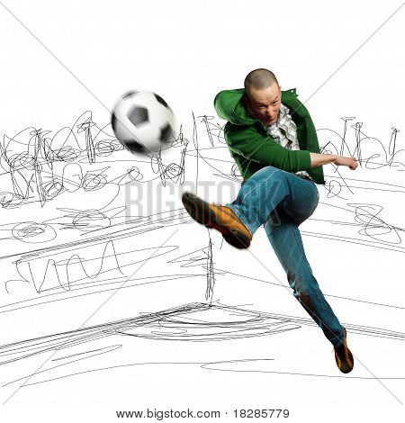 Asian Soccer Player