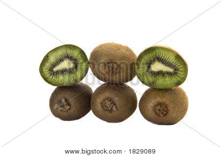 Kiwi Fruit Showing Slice