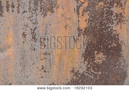metal surface with a shabby  paint