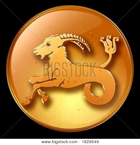 Capricorn Zodiac Button