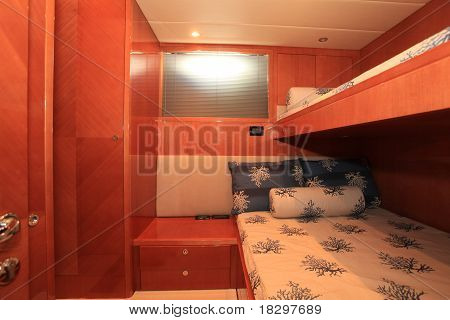 Double bunk on yacht