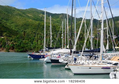 Sailboats In The Caribbean