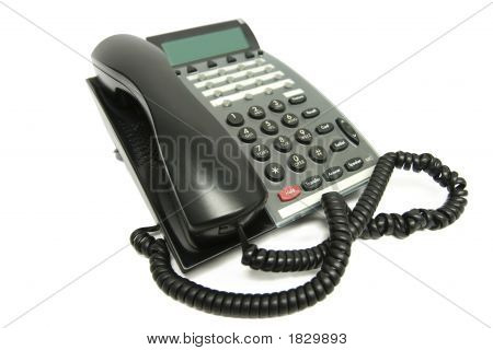Office Phone On White