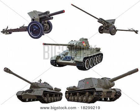 World War Two Legendary Red Army Soviet Guns Cannons Tanks And Self-propelled Gun And Tank Hanter Se