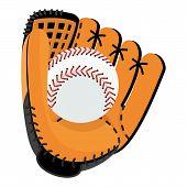 Baseball Glove With Ball poster