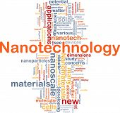 stock photo of nanotube  - Background concept wordcloud illustration of nanotechnology - JPG
