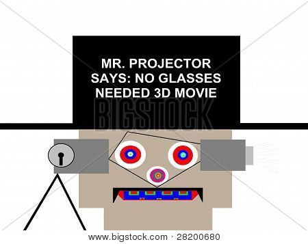 No Glasses Needed 3D Movie Character Sign