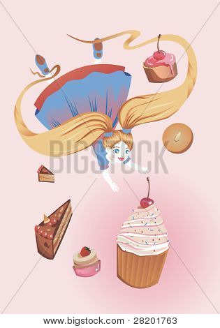 Girl with Cakes