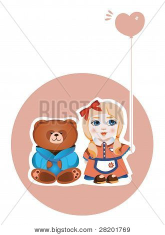 Girl and Bear