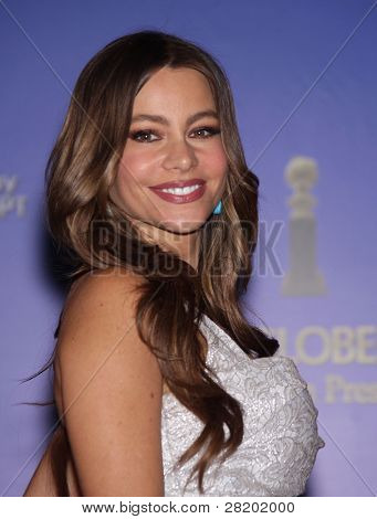 LOS ANGELES - DEC 14:  Sofia Vergara announcing the Golden Globe Awards 2012 Nominations  on December 14, 2011 in Beverly Hills, CA.