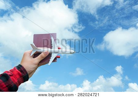 poster of Tourist Holding Airplane  Flight Travel Traveller Fly Travelling Citizenship Air On The Around World