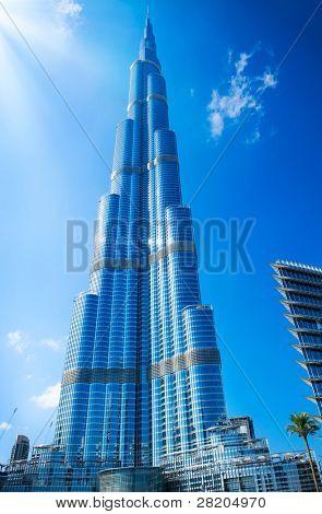DUBAI, UAE. - NOVEMBER 29 : Burj Dubai - tallest building in the world, at 828m. on November 29, 2011 in Dubai, UAE. Day View from Downtown Dubai