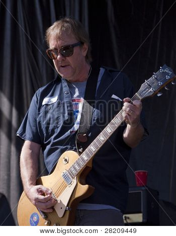 CLARK, NJ - SEPTEMBER 11: Lead guitarist Dan Murphy of the band Soul Asylum performs at the Union County Music Fest on September 11, 2010 in Clark, NJ.