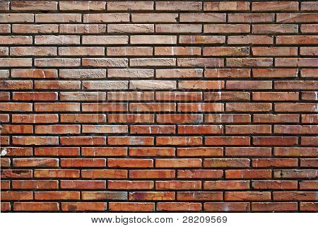 Abstract Orange Wall Made Of Bricks. Good As Background Oe Backdrop.