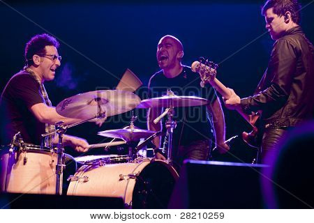 CLARK, NJ - SEPT 16: Ed Kowalczyk (center) performs with new lineup at the Union County Music Fest on September 16, 2011 in Clark, NJ. Kowalczyk was the singer / primary songwriter for the band Live.