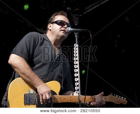 CLARK, NJ - SEPT 18: Lead guitar player Jim Babjak of the band The Smithereens performs at the Union County Music Fest on September 18, 2011 in Clark, NJ.