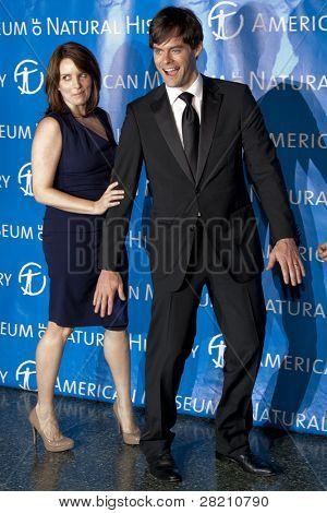 NEW YORK - NOV 10:Tina Fey and Bill Hader joke at the American Museum of Natural History's  2011 Gala on November 10, 2011 in New York City, NY.
