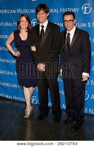 NEW YORK - NOV 10: Tina Fey, Bill Hader, and Fred Armisen attend the American Museum of Natural History's  2011 Gala on November 10, 2011 in New York City, NY.