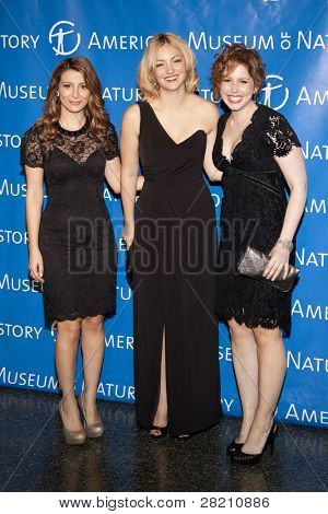 NEW YORK - NOV 10: Saturday Night Live cast members Nasim Pedrad, Abby Elliott, and Vanessa Bayer attends the American Museum of Natural History's  2011 Gala on November 10, 2011 in New York City, NY.