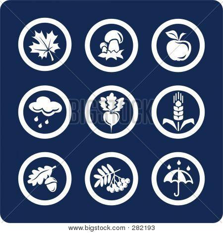Seasons: Autumn Icons (set 4, Part 2)