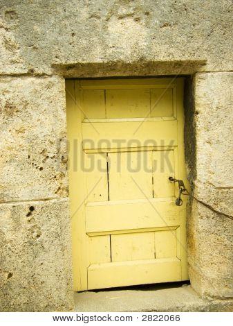 Locked Door At The Bottom Of Minaret