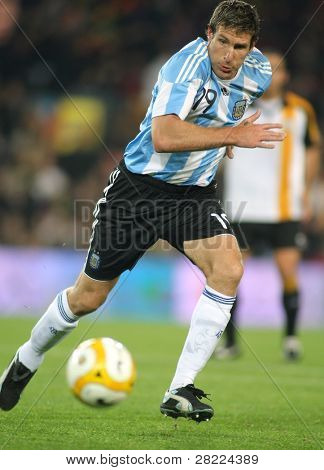 BARCELONA, SPAIN - DEC. 22: Argentinian player Martin Palermo in action during the friendly match between Catalonia vs Argentina at Camp Nou Stadium Dec. 22, 2009 in Barcelona.
