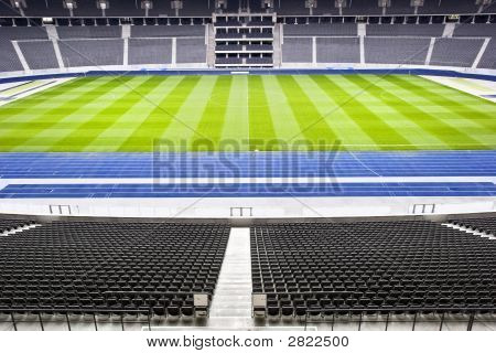 Halfway Line At A Soccer Stadium