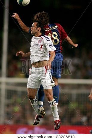 BARCELONA - AUG 22: Iranian player of Bayern Munich Ali Karimi during a friendly match between Bayern Munich and FC Barcelona at the Nou Camp Stadium on August 22, 2006 in Barcelona, Spain