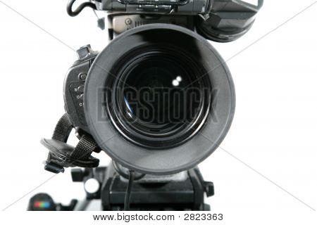 Tv Studio Camera Lens Close Up