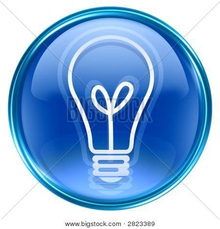 Lâmpada ícone azul
